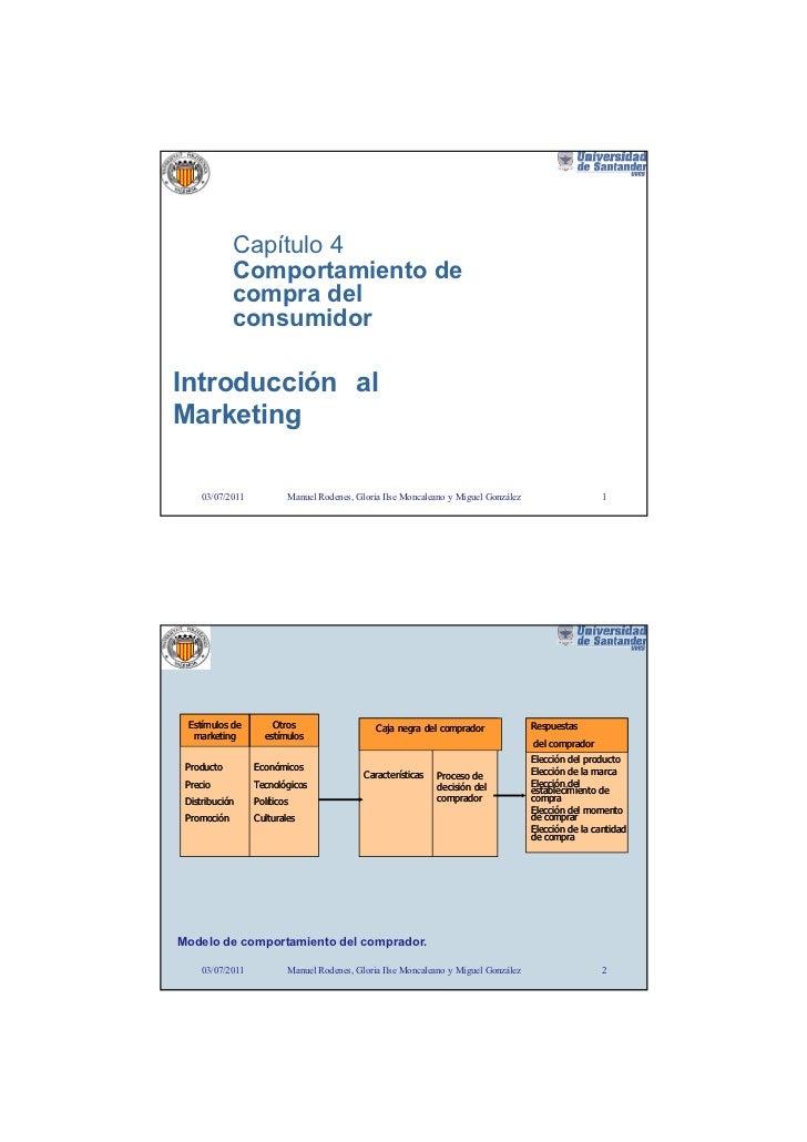 Capítulo 4             Comportamiento de             compra del             consumidorIntroducción alMarketing     03/07/2...