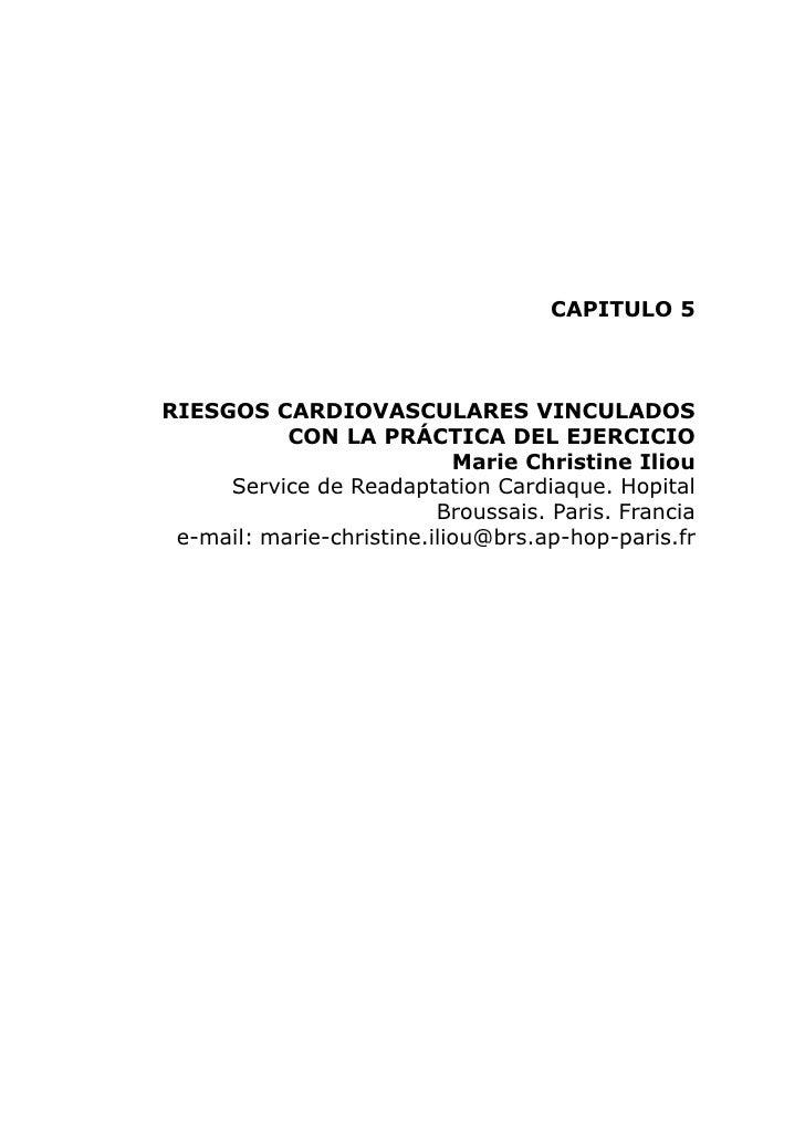 CAPITULO 5    RIESGOS CARDIOVASCULARES VINCULADOS            CON LA PRÁCTICA DEL EJERCICIO                             Mar...