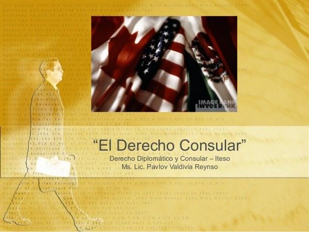 Cap 1.1 el Derecho Diplomatico y Consular