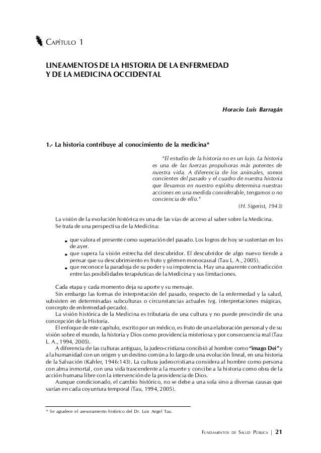 FUNDAMENTOS DE SALUD PÚBLICA | 21 CAPÍTULO 1 LINEAMENTOS DE LA HISTORIA DE LA ENFERMEDAD Y DE LA MEDICINA OCCIDENTAL Horac...