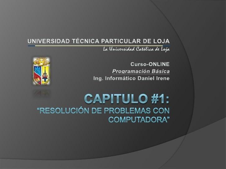 CURSO DE PROGRAMACION BASICA - Cap 1