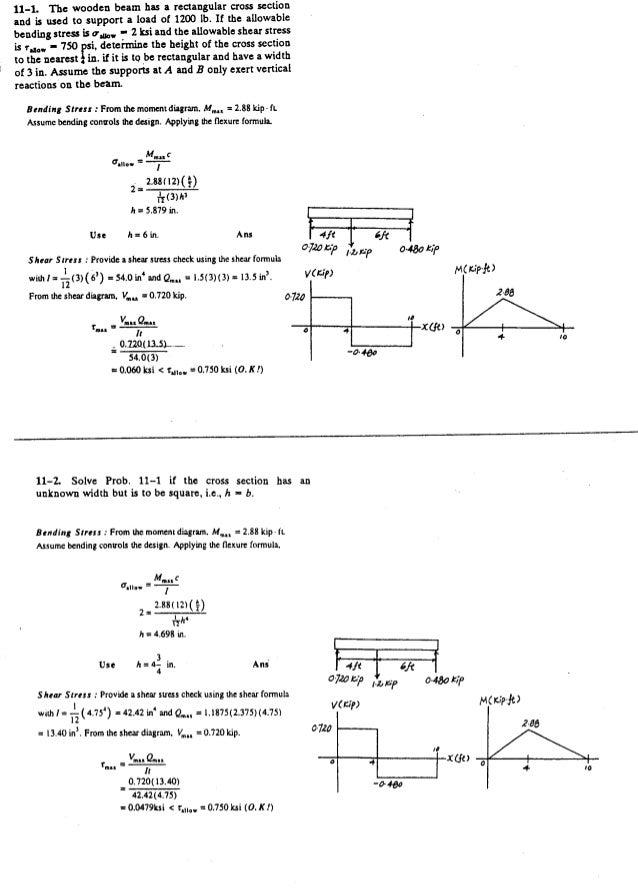 Resistência dos Materiais - Hibbeler 5ª Ed.Cap11 - Exercícios resolvidos
