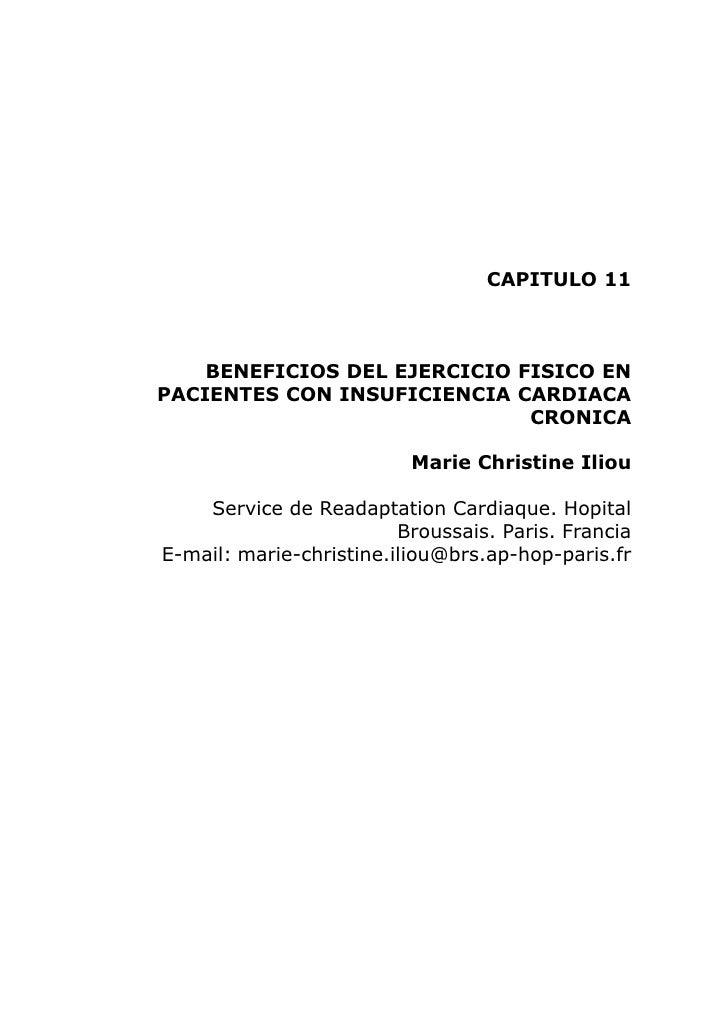 CAPITULO 11        BENEFICIOS DEL EJERCICIO FISICO EN PACIENTES CON INSUFICIENCIA CARDIACA                               C...