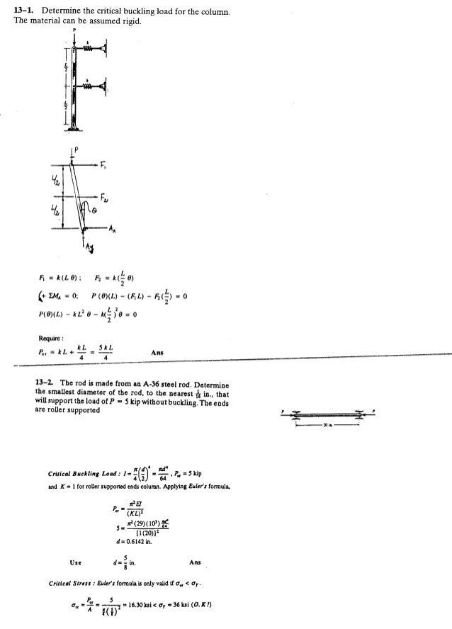 Resistência dos Materiais - Hibbeler 5ª Ed.Cap13 - Exercícios resolvidos