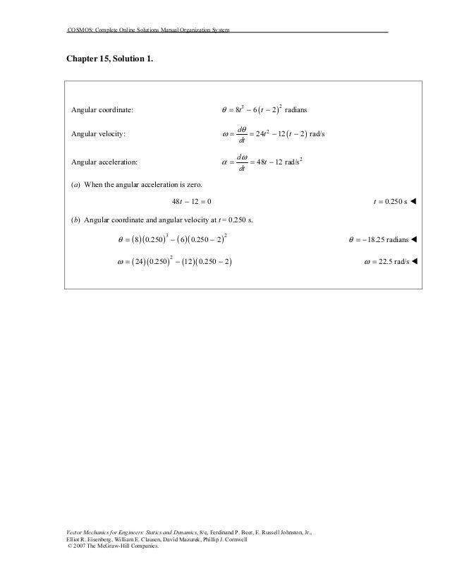 solucionario mecanica vectorial para ingenieros - beer  & johnston (dinamica) 7ma edicion Cap 15