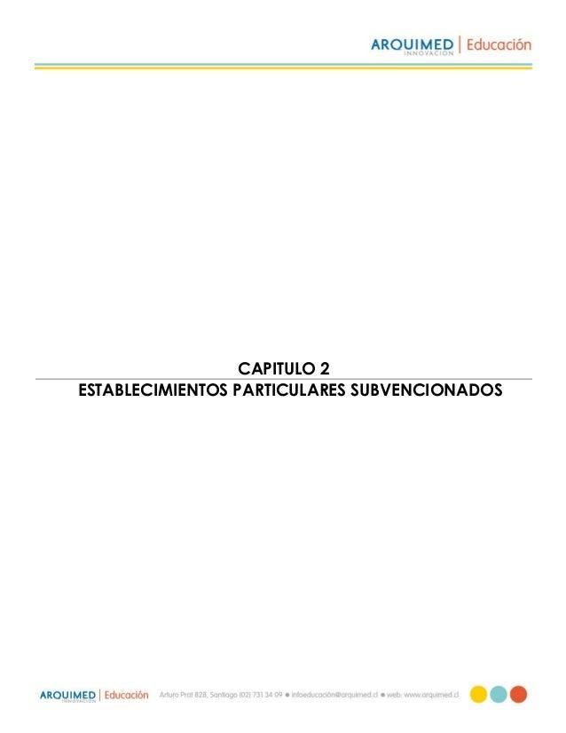 CAPITULO 2 ESTABLECIMIENTOS PARTICULARES SUBVENCIONADOS