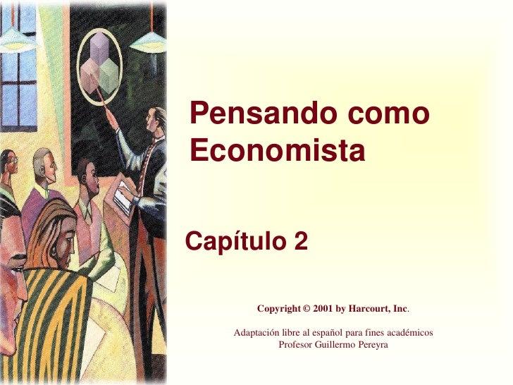 Cap 2 pensar como economista