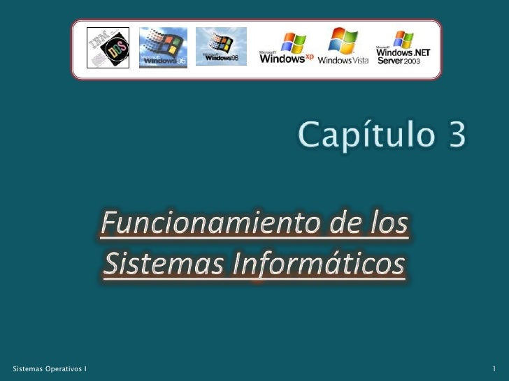 Capítulo 3<br />Funcionamiento de los Sistemas Informáticos<br />1<br />Sistemas Operativos I<br />