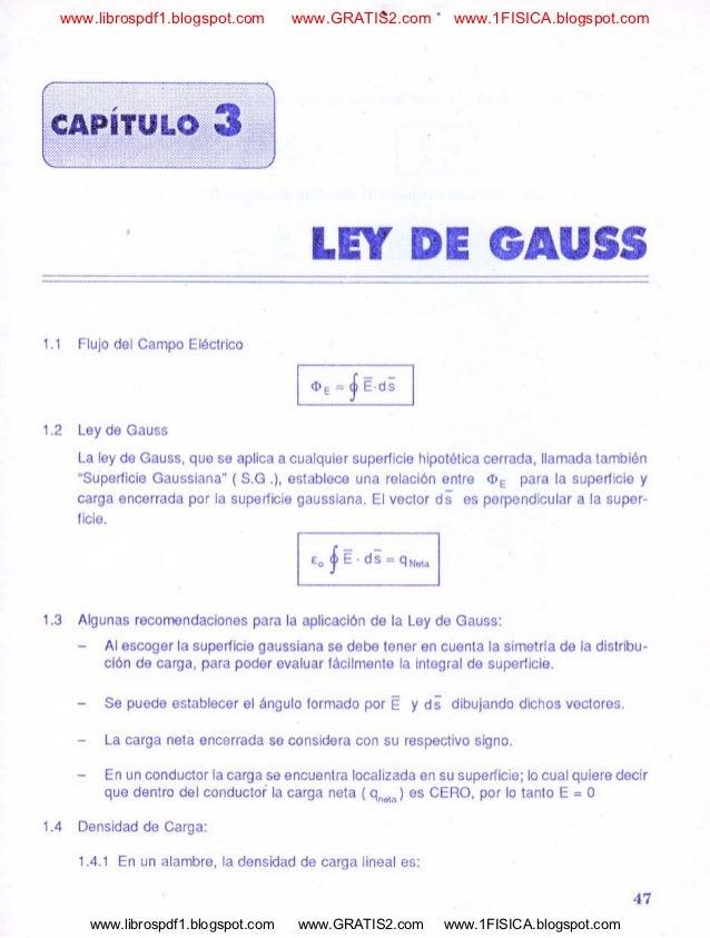 ley de gauss problemas: