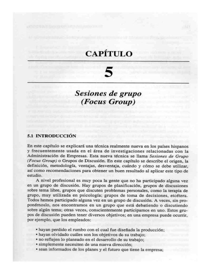 Sesiones de Grupo (Focus Group)
