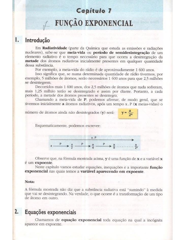 Cap 7   função exponencial