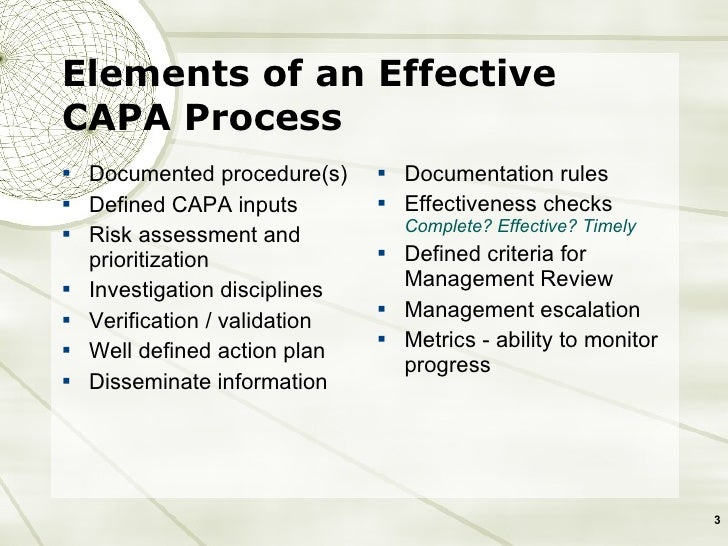 CAPA | Corrective Action Preventive Action | Quality-One