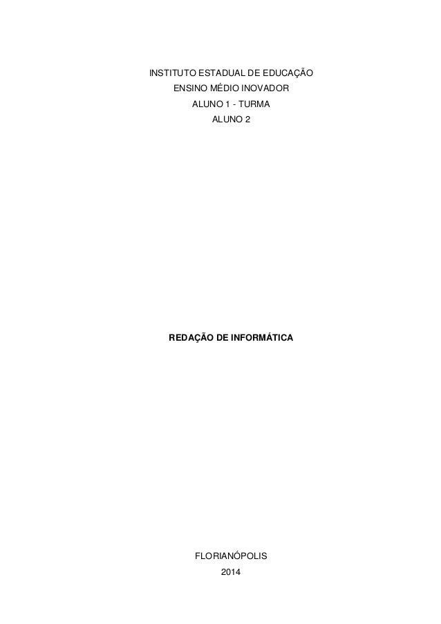 capa de relatorio abnt