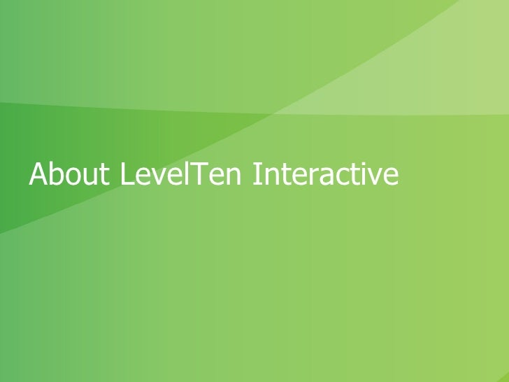 About LevelTen Interactive