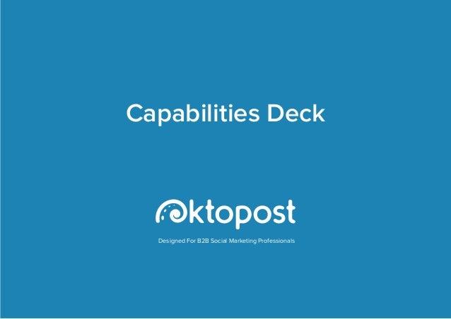 Oktopost Capabilities Deck