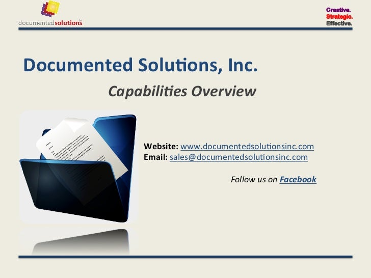 Documented Solutions Capabilities Overview