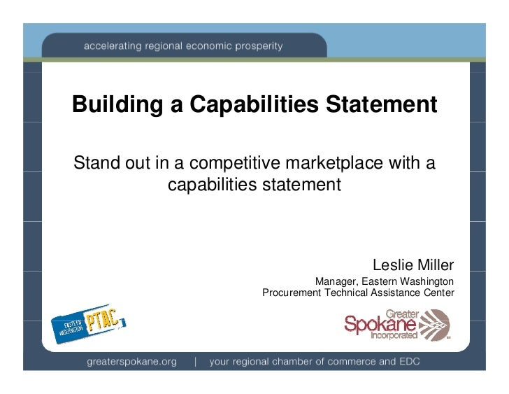 Building a Capabilities StatementStand out in a competitive marketplace with a                   p              p         ...