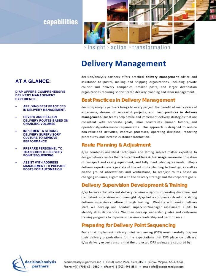 Capability   delivery management v2