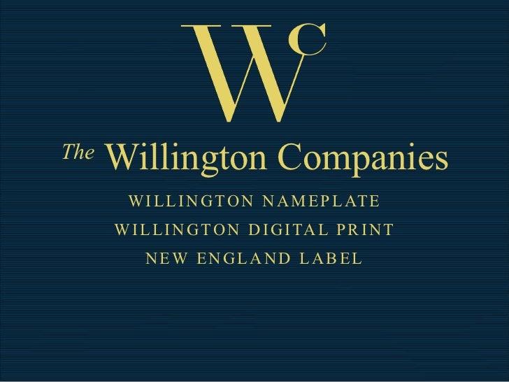 Willington Nameplate Capability 2011