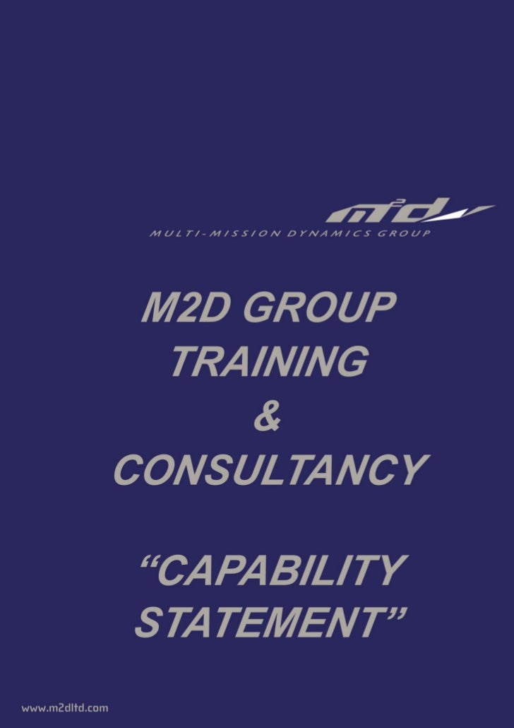 Capability Statement  Multi Mission Dynamics Training  Consultancy