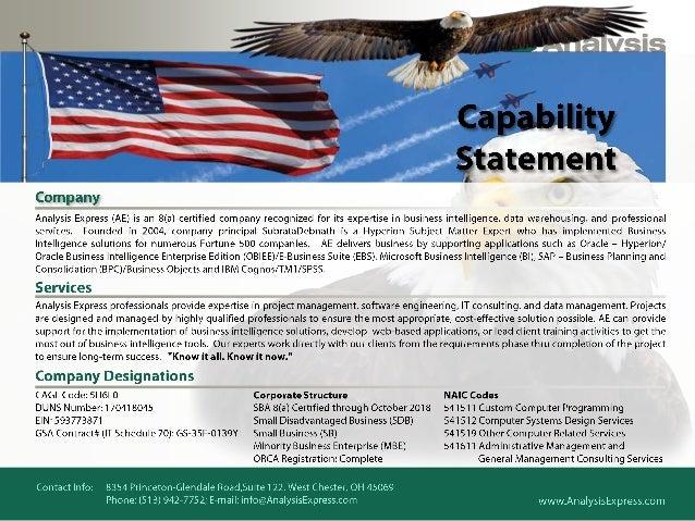 Capability statements