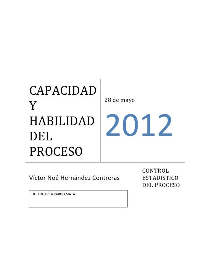 CAPACIDAD                          28 de mayoYHABILIDADDEL                       2012PROCESO                              ...
