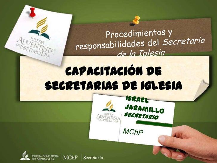 Capacitación funciones secretaría-2012