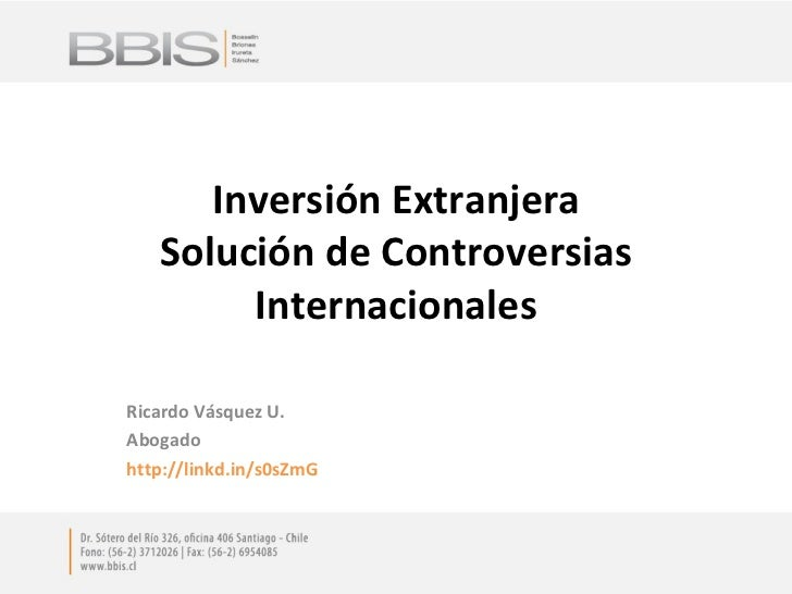 Controversias Inversionista-Estado