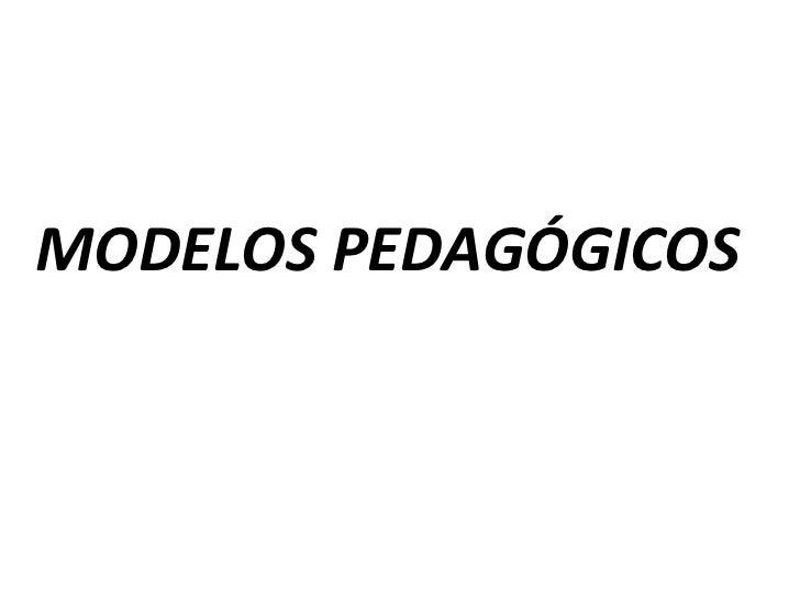 Capacitación Modelos Pedagógicos
