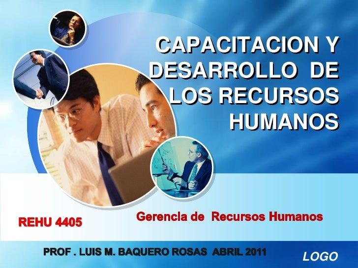 CAPACITACION YDESARROLLO DE LOS RECURSOS      HUMANOS           LOGO