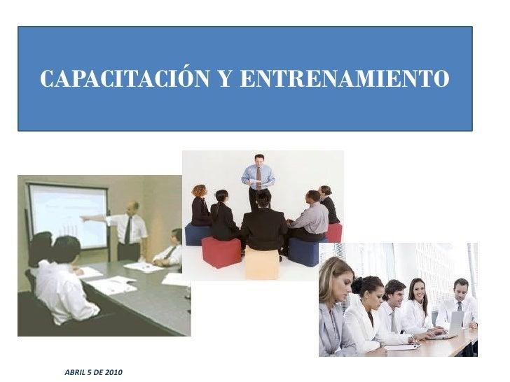 entrenamiento capacitacion: