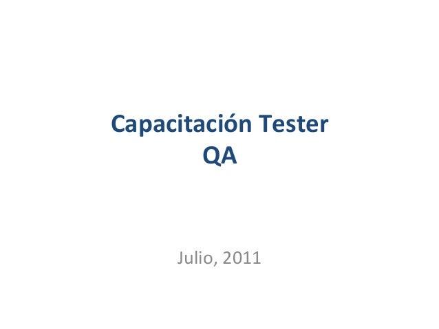 Capacitacitación Tester - QA 5