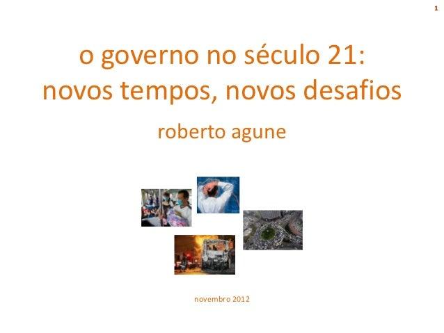 O Governo no Século XXI