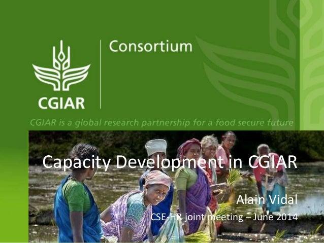 Capacity development within CGIAR