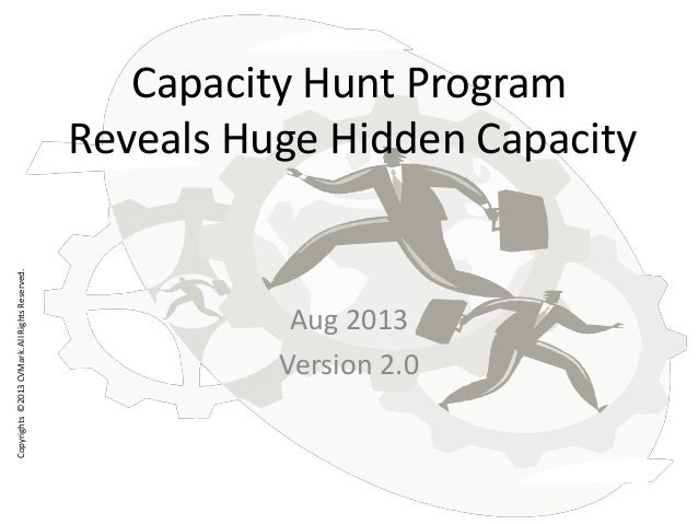 Copyrights©2013CVMark.AllRightsReserved. Capacity Hunt Program Reveals Huge Hidden Capacity Aug 2013 Version 2.0