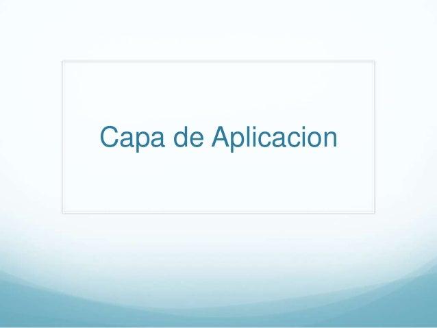 Capa de aplicacion (Final)