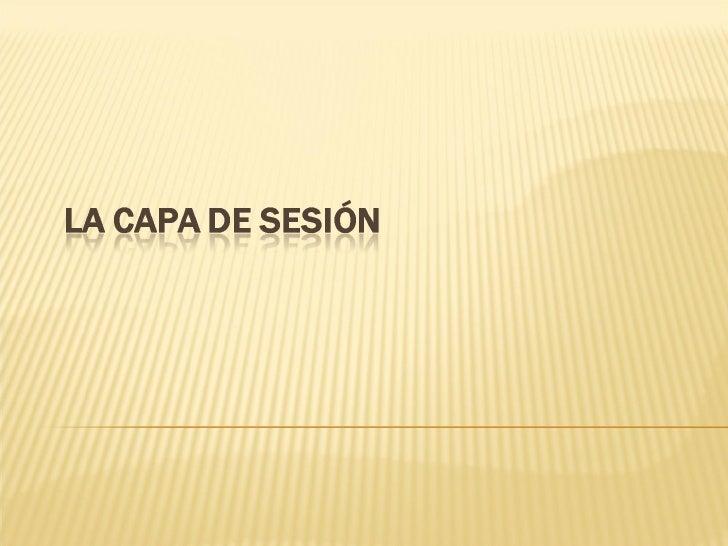 Capa De Sesion