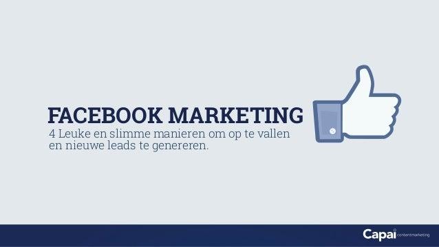 Facebook Marketing - Capai Contentmarketing