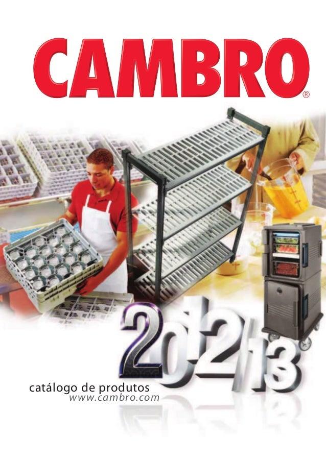 www.cambro.com catálogo de produtos