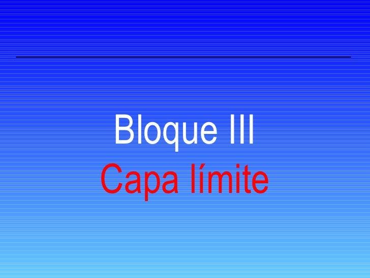 Bloque III Capa límite