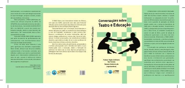 Capa livro conversações sobre teatro e educação