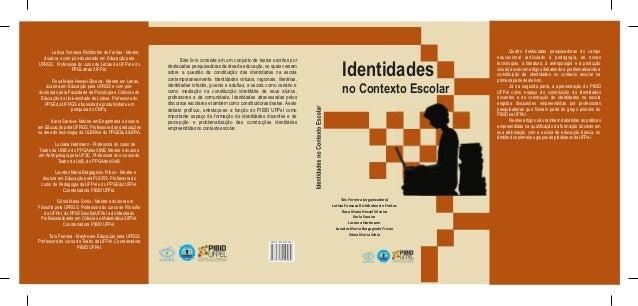 Capa livro identidades no contexto escolar