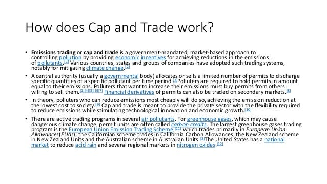 What is a cap and trade system and how does it work