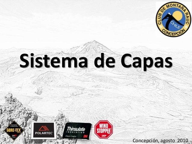 Sistema de Capas Concepción, agosto 2010