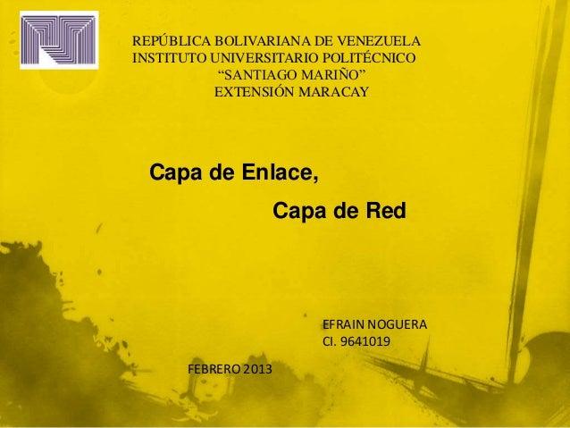 """REPÚBLICA BOLIVARIANA DE VENEZUELAINSTITUTO UNIVERSITARIO POLITÉCNICO           """"SANTIAGO MARIÑO""""          EXTENSIÓN MARAC..."""
