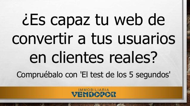 ¿Es capaz tu web de convertir a tus usuarios en clientes reales? Compruébalo con 'El test de los 5 segundos'