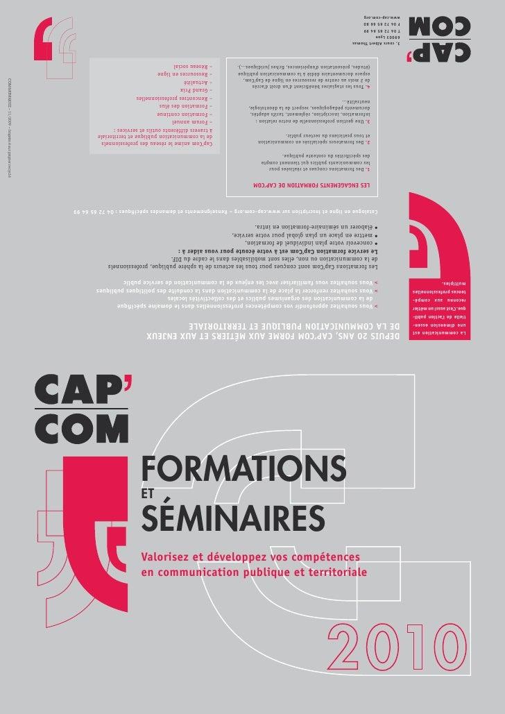 Formations et  séminaires Valorisez et développez vos compétences en communication publique et territoriale