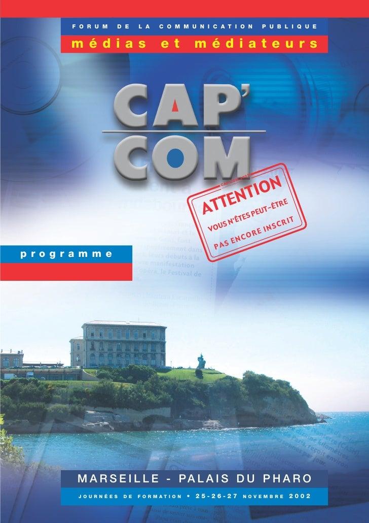 Programme Cap'Com 2002