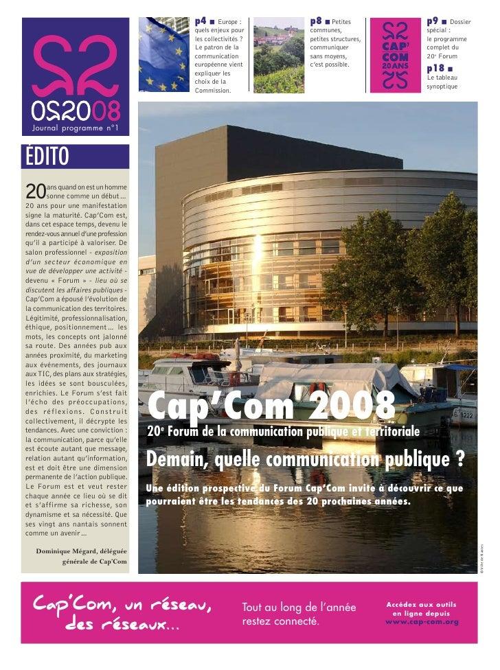 Programme Cap'Com 2008