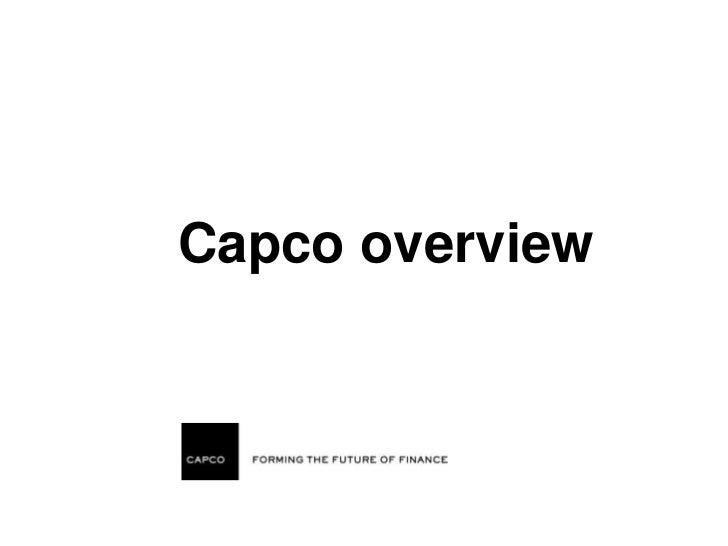 Capco overview